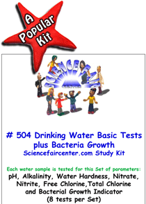 Download # 504 Drinking Water Basics PDF with pH, Alkalinity, Water Hardness, Nitrate, Nitrite, Free Chlorine,Total Chlorine and Bacterial Growth Indicator (8 tests per Set)