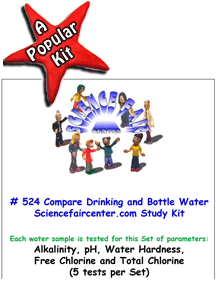 Download # 524 Drinking Water versus Bottled Water Testing PDF with Alkalinity, pH, Water Hardness, Free Chlorine and Total Chlorine (5 tests per Set).