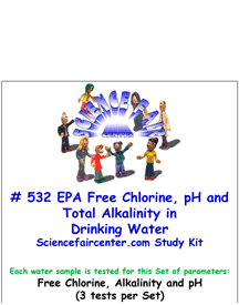 Download # 532 EPA Free Chlorine, pH and Total Alkalinity in Drinking Water Testing PDF with  Free Chlorine, pH and Alkalinity (3 tests per Set).