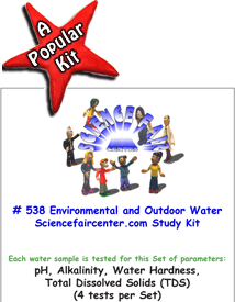 Download # 538 Environmental and Outdoor Water Source PDF with  pH, Alkalinity, Water Hardness, Total Dissolved Solids (TDS), (4 tests per set).