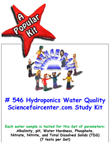 Download # 546 Hydroponics Water Quality Tests PDF with  Alkalinity, pH, Water Hardness, Phosphate, Nitrate, Nitrite, and Total Dissolved Solids (TDS) (7 tests per Set).