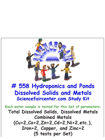 Download # 558 Hydroponics and Ponds Dissolved Solids and Metals PDF with Total Dissolved Solids, Dissolved Metals Combined Metals (Cu+2,Co+2,Zn+2,Cd+2,Ni+2,etc.), Iron+2, Copper, and Zinc+2 (5 tests per Set).