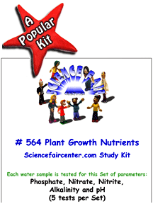 Download # 564 Plant Growth Nutrients in Water PDF with Phosphate, Nitrate, Nitrite, Alkalinity and pH (5 tests per set).