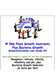 Download # 566 Plant Growth Nutrients Plus Bacteria in Water PDF with Phosphate, Nitrate, Nitrite, Alkalinity, pH Plus Bacterial Growth (6 tests per set).