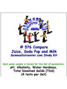 Download # 576 Compare Juice Soda Pop Milk PDF with pH, Alkalinity, Water Hardness, Total Dissolved Solids (TDS) (4 tests per set).