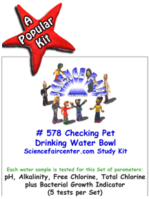 Download # 578 Checking Pet Drinking Water Bowl PDF with pH, Alkalinity, Free Chlorine, Total Chlorine plus Bacterial Growth Indicator (5 tests per set).