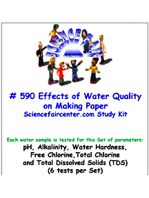 Download # 590 Effects of Water Quality on Making Paper PDF with pH, Alkalinity, Water Hardness, Free Chlorine, Total Chlorine and Total Dissolved Solids (TDS) (6 tests per set).