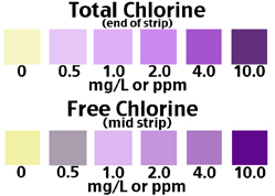 Total and Free Chlorine in Water test scales