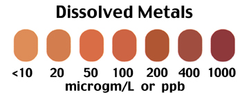 Dissolved Metals in Water test scale