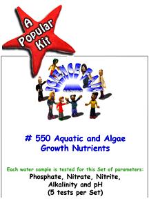 550 Aquatic and Algae Growth Nutrients in Water - Nitrogen and phosphorus influence aquatic growth and algae blooms.