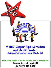 580 Copper and Acidic Water - Test corrosion of copper metal (pipes, wire, penny etc.) by acidic water.